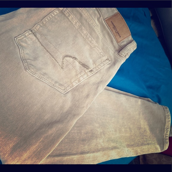 American Eagle Outfitters Pants - American Eagle Khaki Skinny Hi-Rise Jegging
